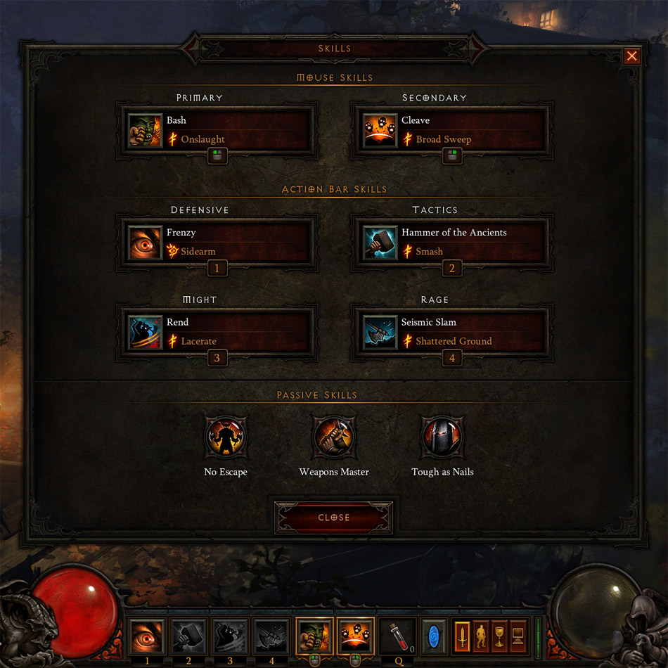 diablo 2 how to quickly change skills
