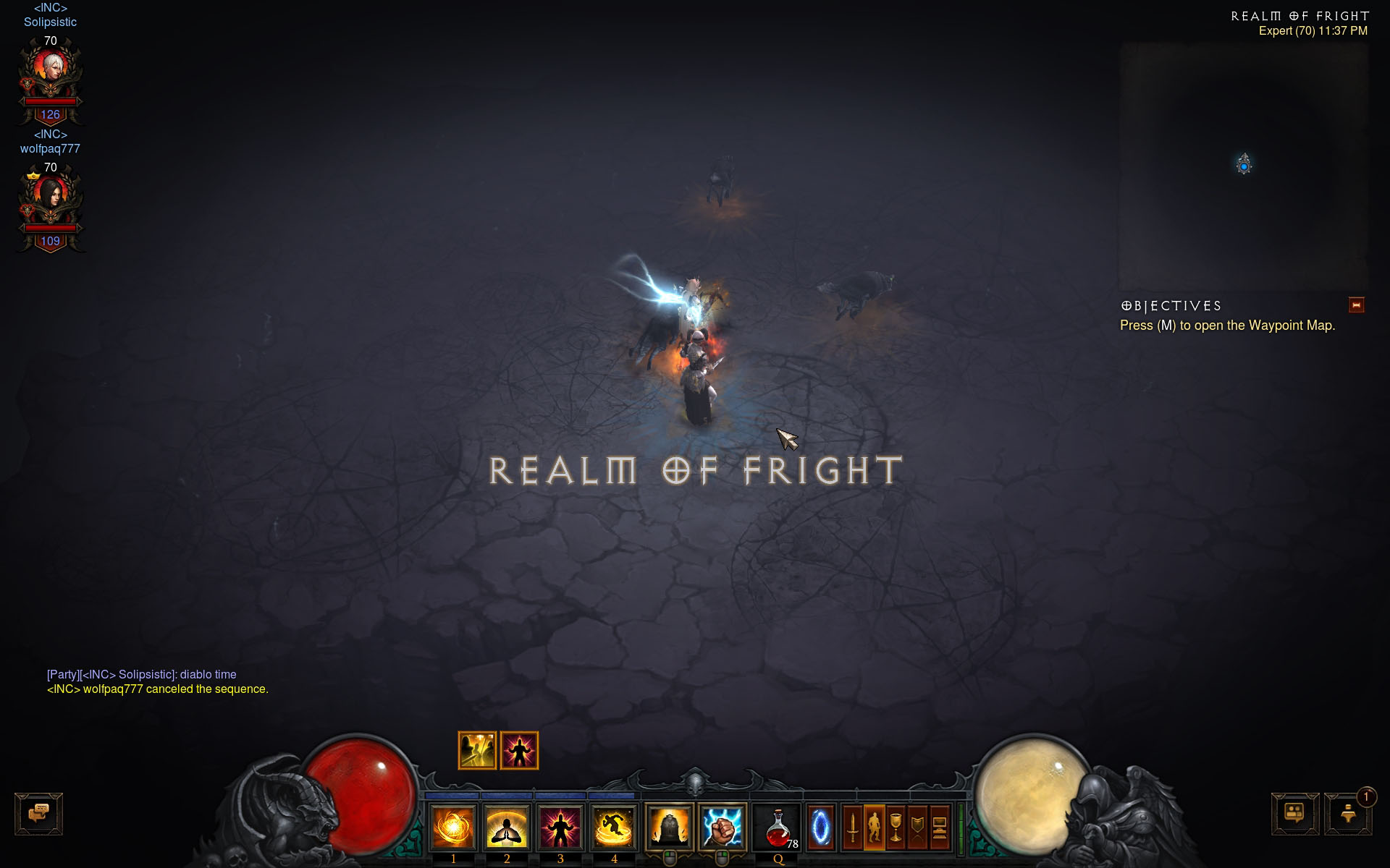 how to use infernal machine of fright