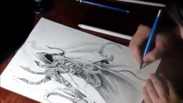 Speed drawing - Fan art by Marina Torrecilha - Malthael from Diablo , Blizzard.
