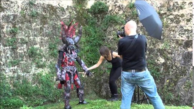 Backstage Shooting - Malthael & Witch Doctor by Hiluvia Cosplay