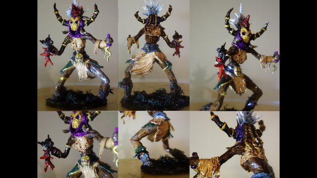 Sculpting Diablo 3 Witch Doctor - complete timelapse + hq pictures