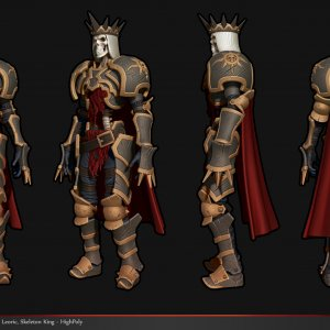 Skeleton King - High Poly Model