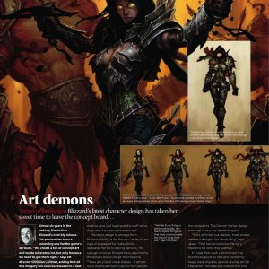 Demon Hunter in ImagineFX #69