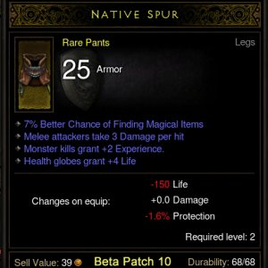 Rare Drop - Native Spur