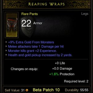 Rare Drop - Reaping Wraps