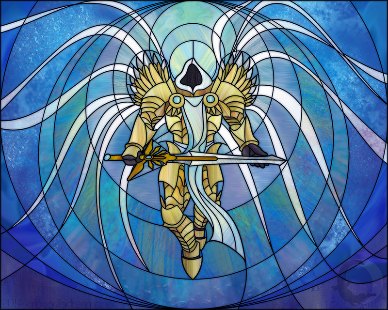 Archangel Tyrael: Stained Glass