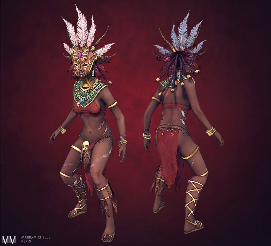 3D Witch Doctor Model