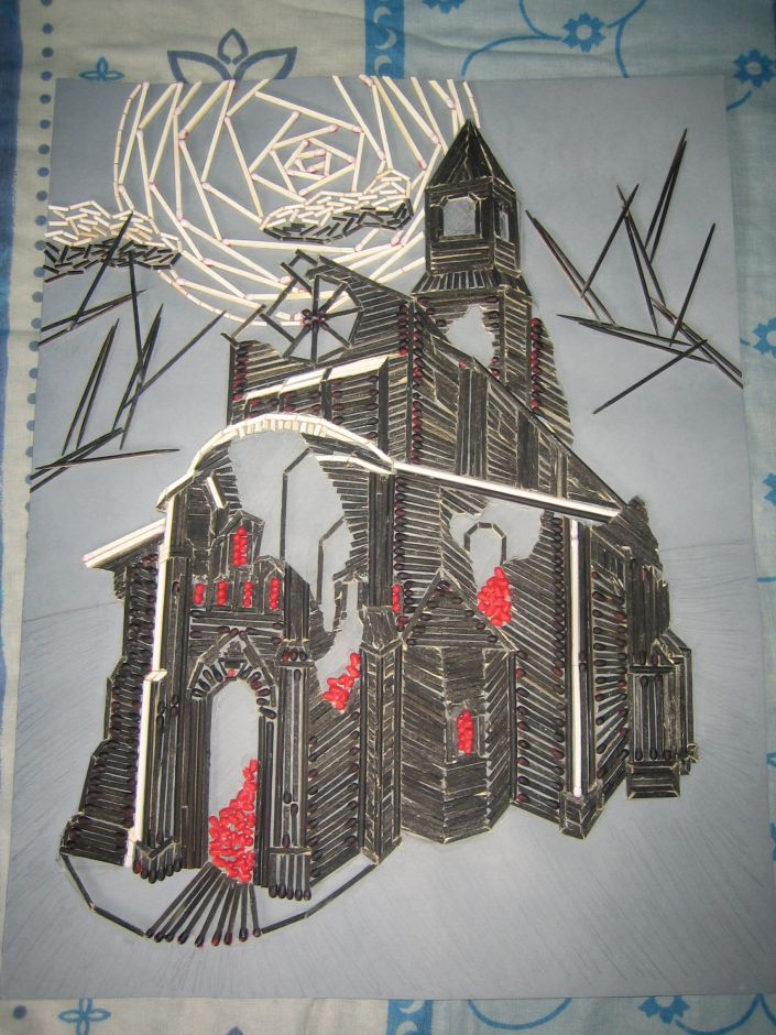 Toothpick Art: Tristram Cathedral