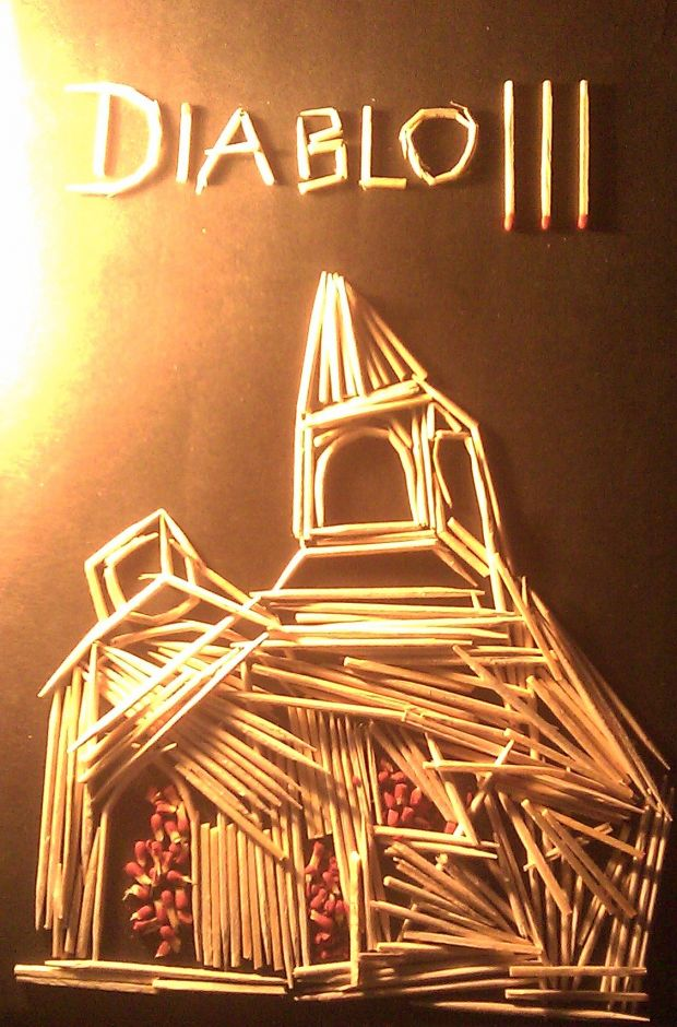 Toothpick Art: Tristram Cathedral 2