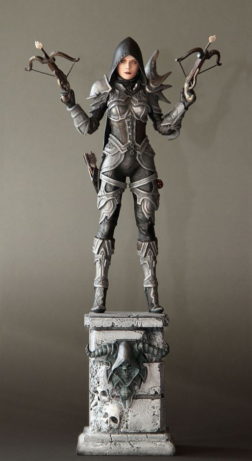 Demon Hunter Sculpture