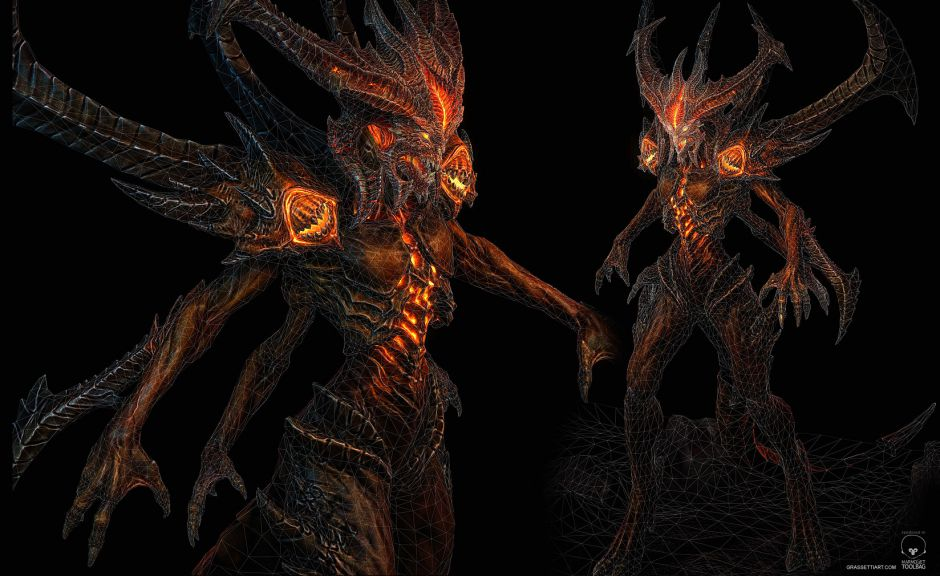 Diablo: The Prime Evil - Wireframe