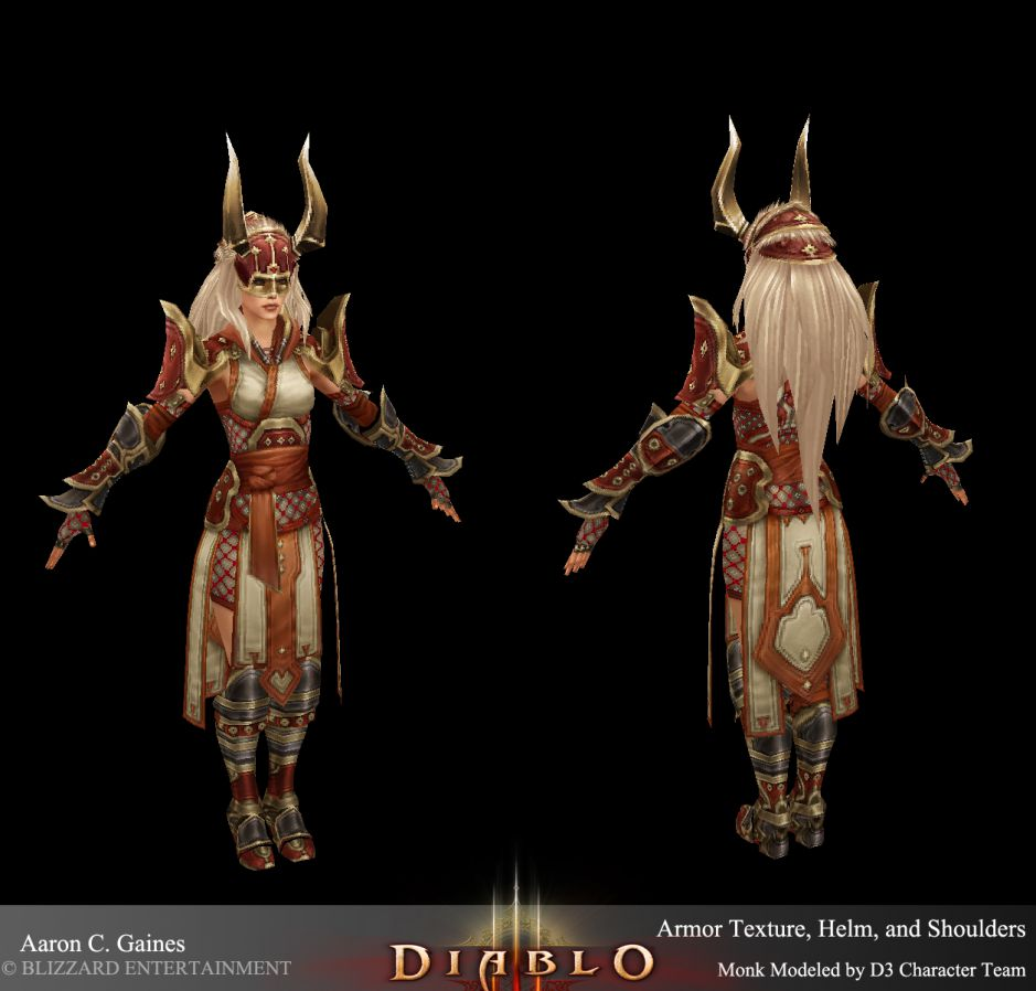 Female Monk The Diablo Gallery Helm