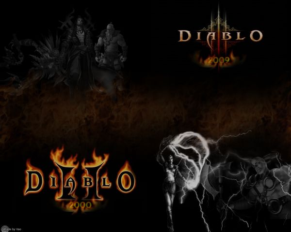 Diablo2/Diablo3 1280-1024 Wallpaper