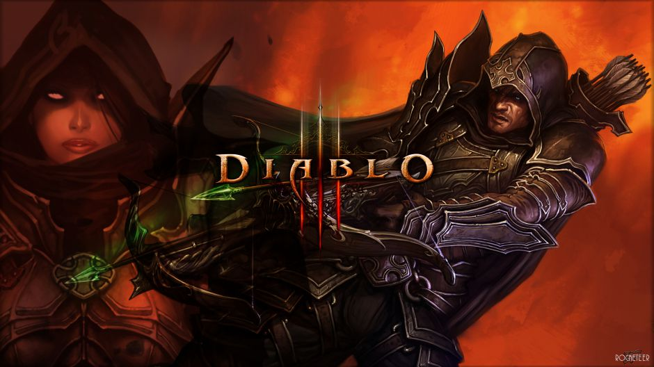 demon wallpaper diablo iii weekly wallpaper 117 demon hunter and wizard