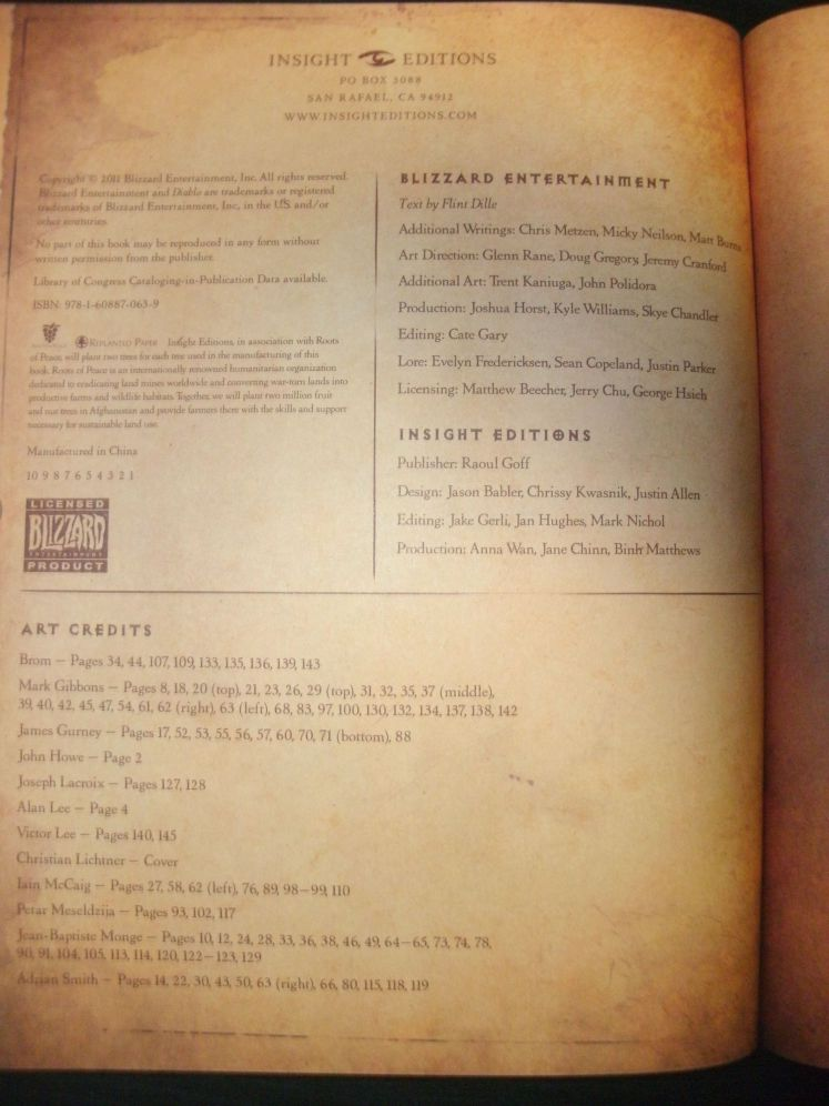 Book of Cain Credits