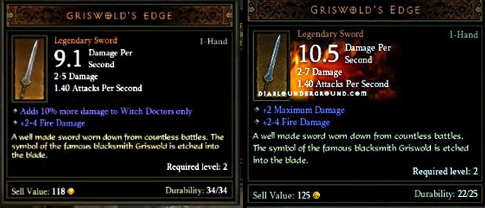 Griswold's Edge - Legendary Weapon