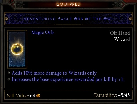 Adventuring Eagle Orb of the Owl