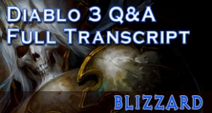 diablo 3 developer chat transcript