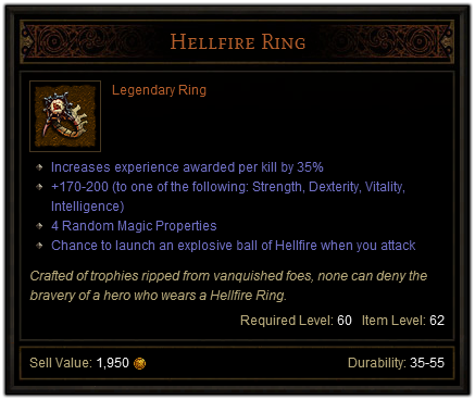 Making Hellfire Ring Diablo