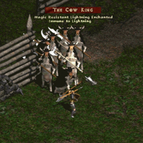 Cow King's corral.