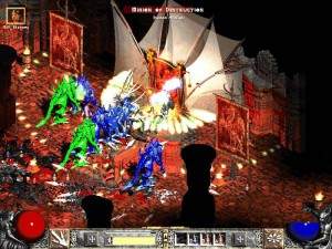 Diablo 2: Dark, gothic, and never colorful.