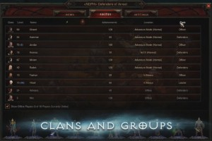 Clans interface teaser image.