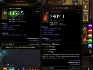 My first big legendary upgrade. Doubled my DPS.