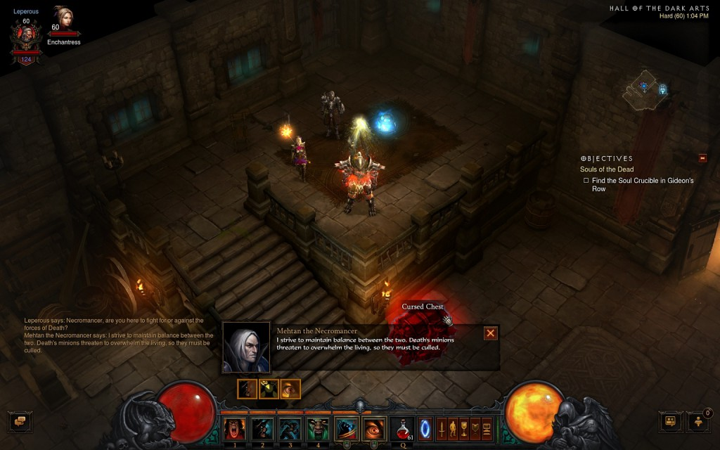 Talk to Necromancer to trigger Cursed Chest event.