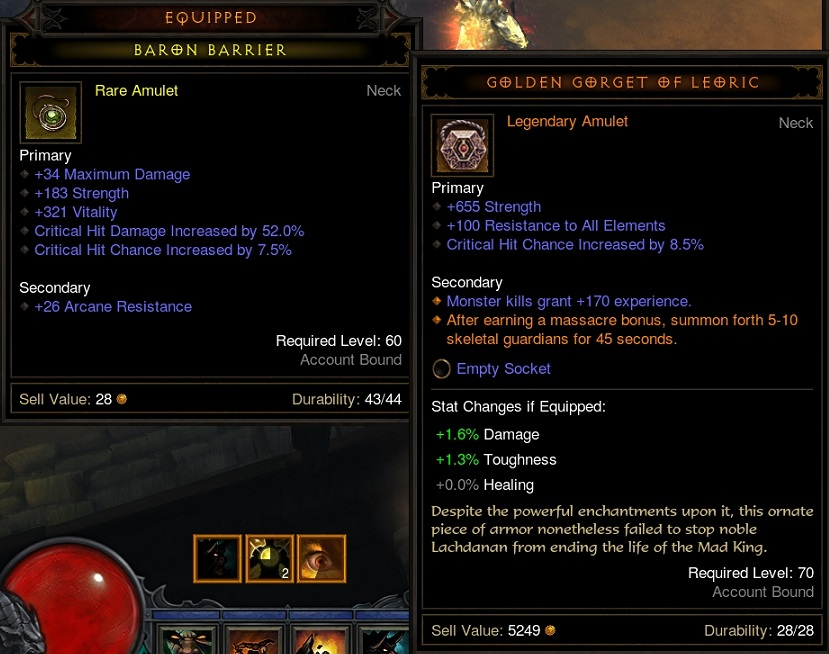 It's easy to upgrade over D3 lvl 60 gear when you add 655 mainstat.
