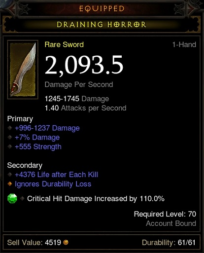 Rare 1H weapon post-patch.