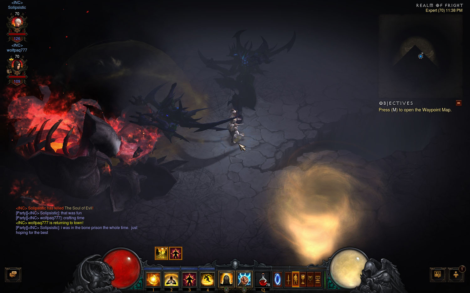 where to use infernal machine of fright