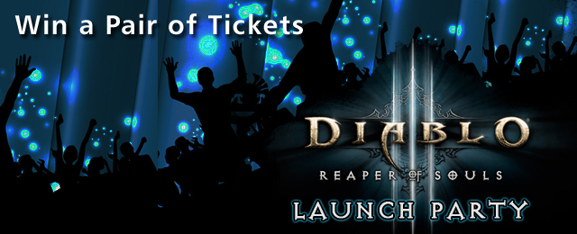 win tickets to reaper of souls launch party