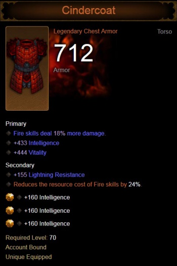 Fire damage and reduced fire skill costs.