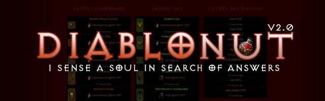 DiabloNut v2.0 Diablo 3 Database Armory is Fully Stocked