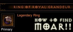 Diablo  Royal Ring Of Grandeur Farming