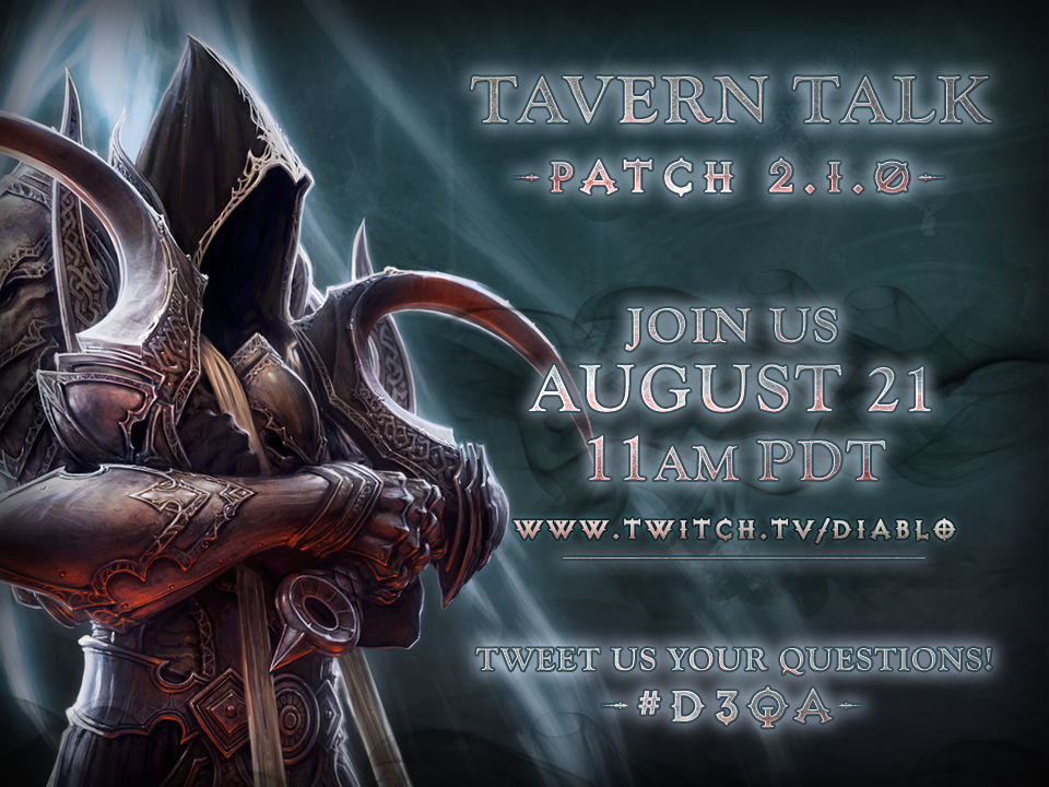 Diablo 3 Developers Patch 2.1 Live Chat Next Week