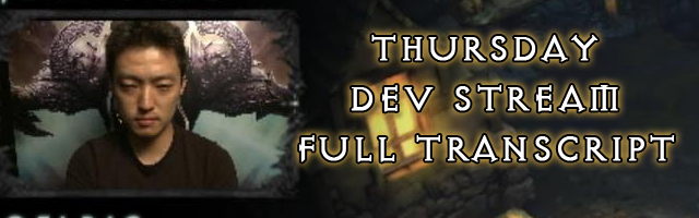 Diablo 3 Developer Live Stream Transcript