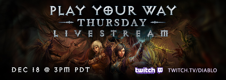 Diablo 3 Dev Live Stream Thursday