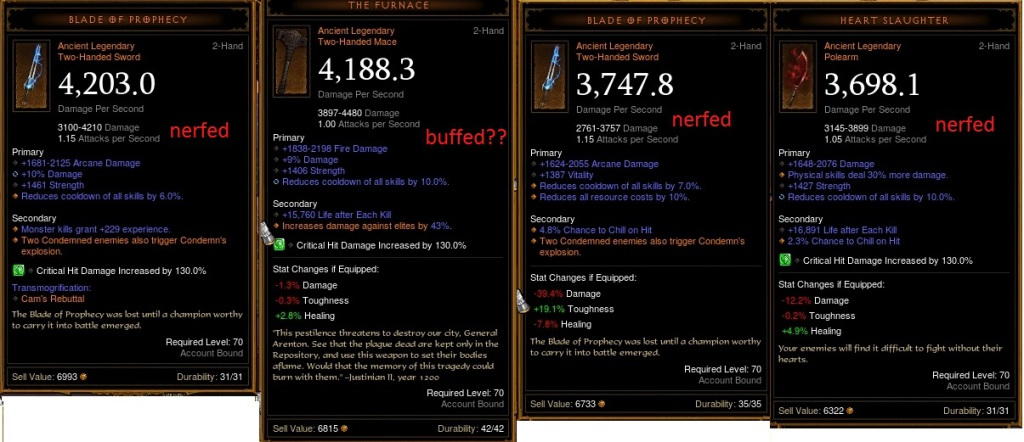 Ancient Legendary Weapons Tweaked in New Patch + Conduit Nerf