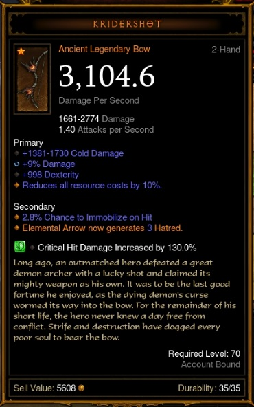 Diablo  How To Craft Ancient Weapons