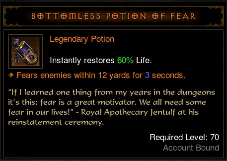 Legendary Potion of Fear