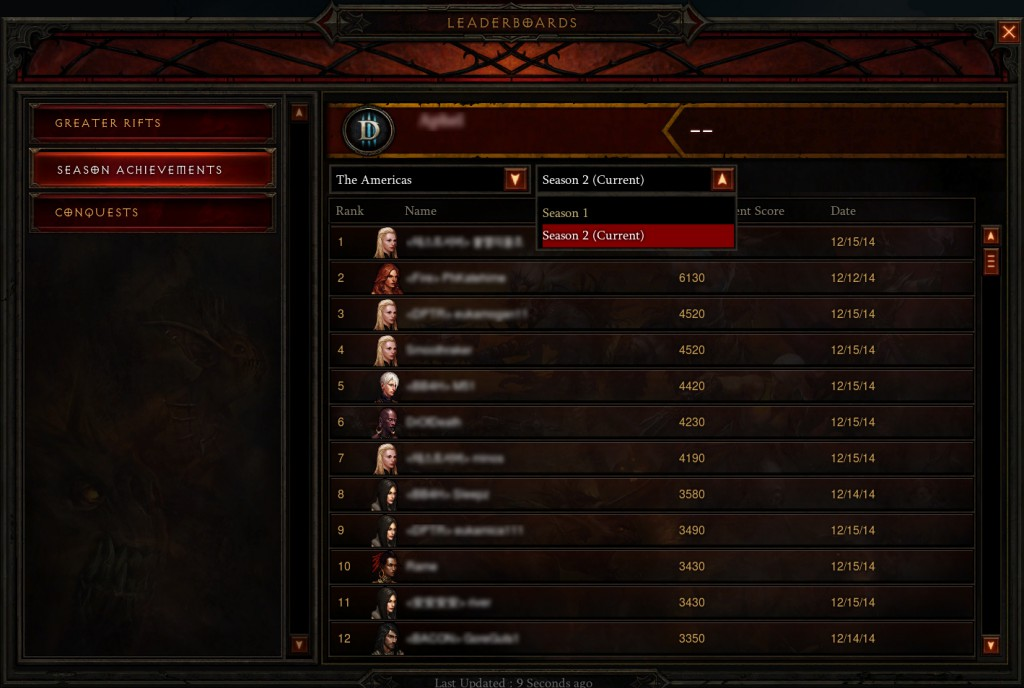 A notice on locking of Leaderboards while Diablo 3 2.6.1 is deployed