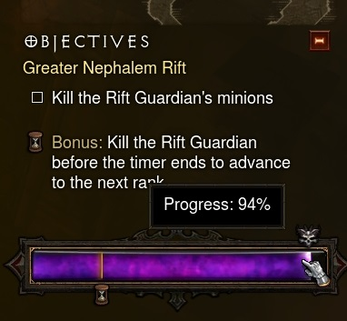Complete Rift and Grift Monster Progress % Values