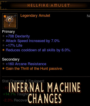 Hellfire amulet changes