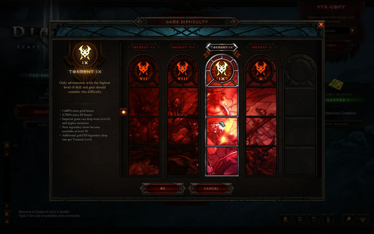 how to change difficulty in diablo 3