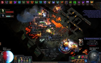 Path of Exile=Visual buff spam?