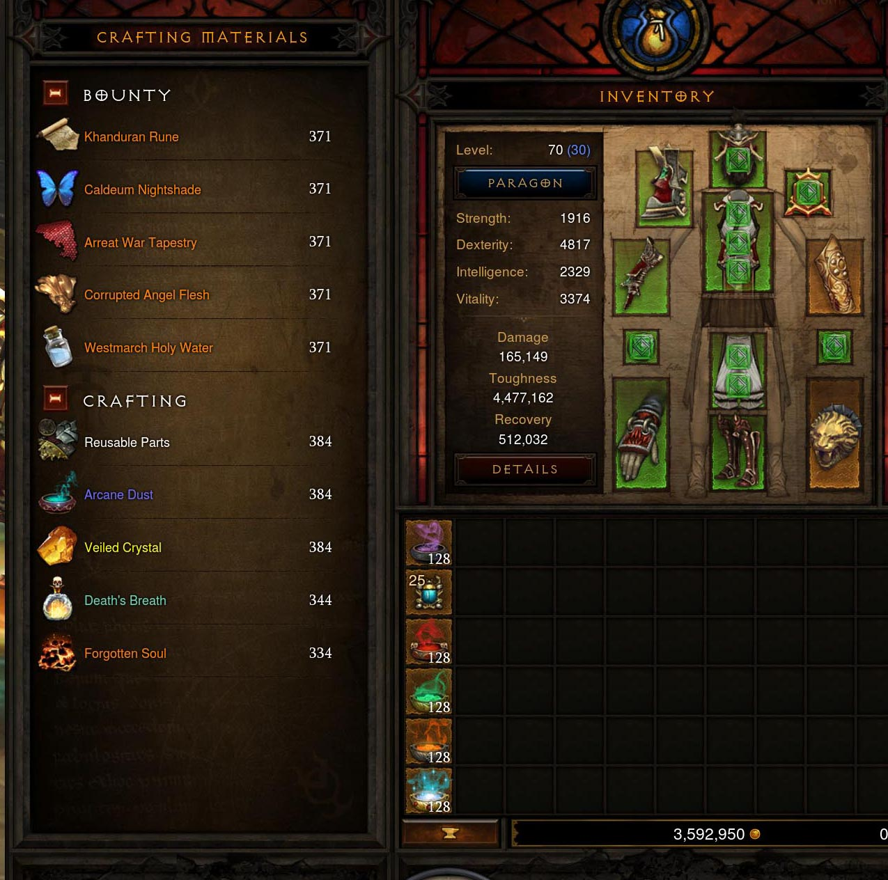 Diablo 3 blizzcon screenshots improved crafting and for Diablo 3 crafting items