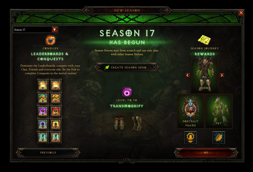 Diablo 3 Season 17 Journey Reward