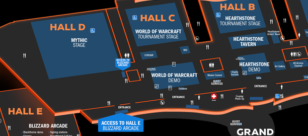 Blizzcon 2019 floor plan